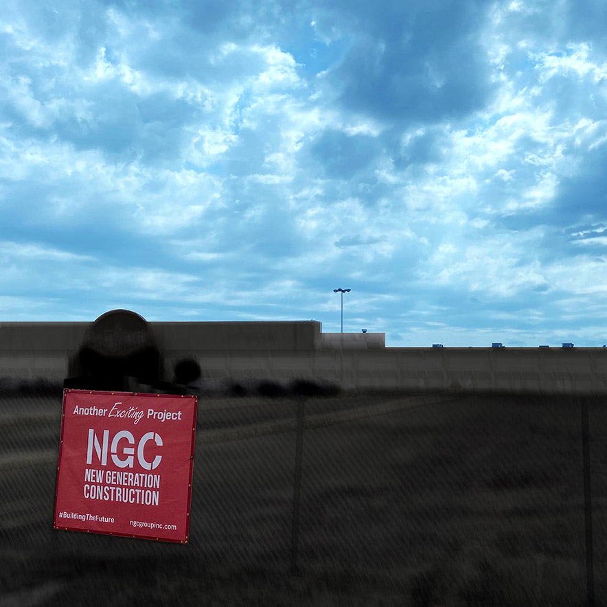 NP NGC banner sign Mall Mix